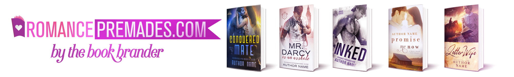 Romace Premade Book Covers
